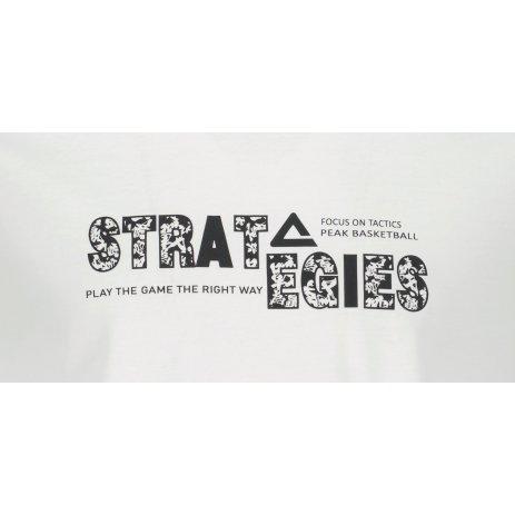 Pánské triko PEAK ROUND NECK T SHIRT FW612363 WHITE
