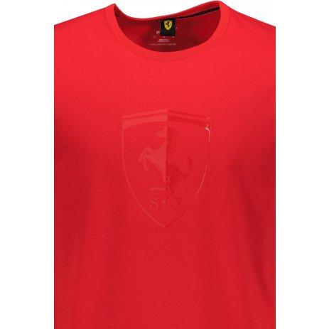 Pánské triko PUMA FERRARI RACE TONAL BIG SHIELD TEE 531692-02 ČERVENÁ