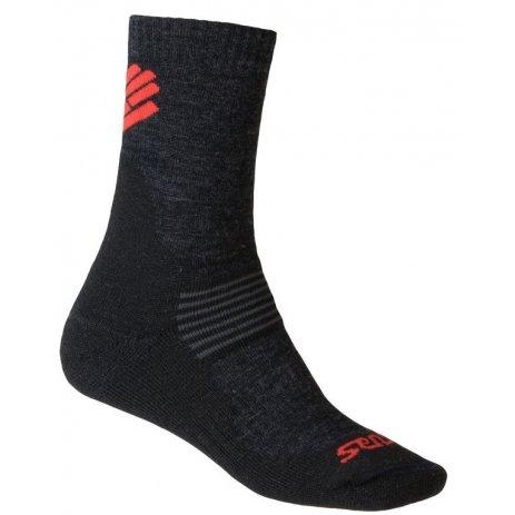 Ponožky SENSOR EXPEDITION MERINO 13200081 ČERNÁ/ČERVENÁ