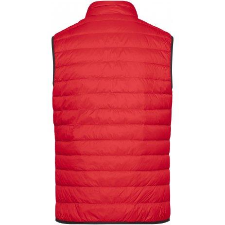Pánská péřová vesta JAMES NICHOLSON JN1138 RED/SILVER