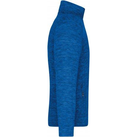 Pánská fleecová mikina JAMES NICHOLSON JN770 ROYAL MELANGE/BLUE