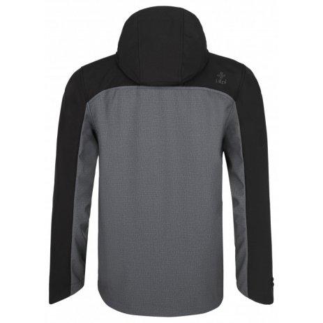Pánská softshellová bunda KILPI RAVIO-M QM0002KI TMAVĚ ŠEDÁ