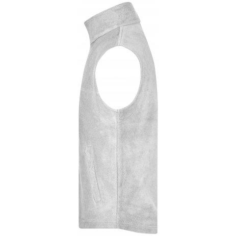 Pánská heavyfleece vesta JAMES NICHOLSON JN045 WHITE
