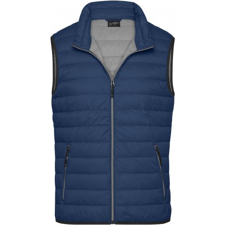 Pánská péřová vesta JAMES NICHOLSON JN1138 INDIGO BLUE/SILVER