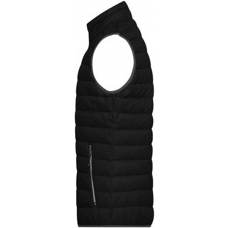 Pánská péřová vesta JAMES NICHOLSON JN1138 BLACK/SILVER