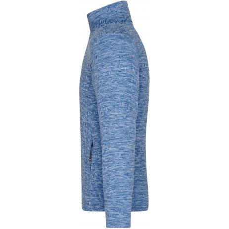 Pánská fleecová mikina JAMES NICHOLSON JN770 BLUE MELANGE/NAVY
