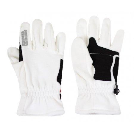 Zimní rukavice fleece NORDBLANC GOFU NBWG3348 BÍLÁ