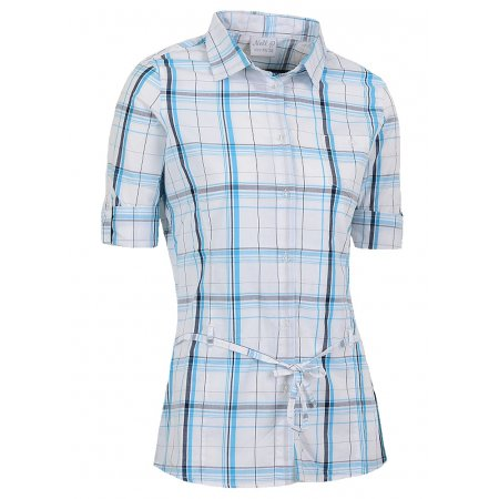 Dámská košile s 3/4 rukávem NELL W14052 BÍLOMODRÁ